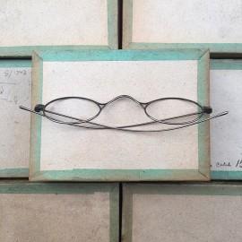 lunette ancienne métal XIX ème 1880 1870 titane paladium vue soleil solaire aristide retro