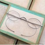 lunette ancienne métal XIX ème 1880 1870 titane paladium vue soleil solaire ernest retro large épais