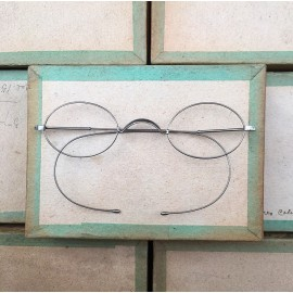 glasses spectacles vintage antique 19th century antique antiques metal titanium 1880 1870 thick wide