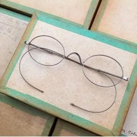 glasses spectacles vintage antique 19th century antique antiques metal titanium 1880 1870 nose up high