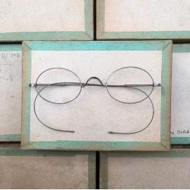 lunette ancienne métal XIX ème 1880 1870 titane paladium vue soleil solaire ernest retro nez haut