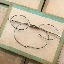 lunette ancienne métal XIX ème 1880 1870 titane paladium vue soleil solaire edgar retro petite écaille
