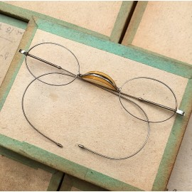 glasses spectacles vintage antique 19th century antique antiques metal 1880 1870 edgar wide shell