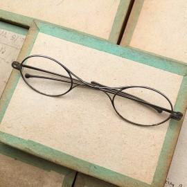 lunette ancienne métal XIX ème 1880 1870 titane paladium vue soleil solaire anatole retro pliable