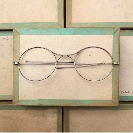 lunette ancienne métal XIX ème 1880 1870 titane paladium vue soleil solaire victor retro pliable