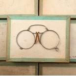 lunette ancienne métal XIX ème 1880 1870 titane paladium vue soleil solaire pince nez écaille rond oscar lorgnon binocle
