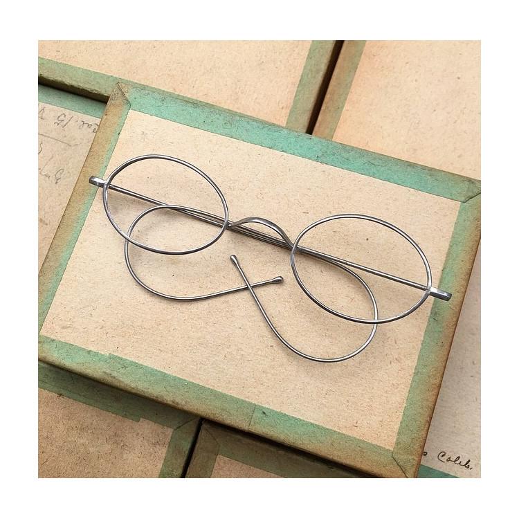 glasses spectacles vintage antique 19th century antique antiques aluminium 1880 1870 emile