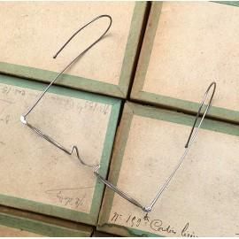 lunette ancienne métal XIX ème 1880 1870 aluminium vue soleil solaire émile retro nez haut
