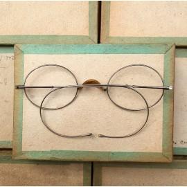 lunette ancienne métal XIX ème 1880 1870 titane paladium vue soleil solaire alphonse retro large écaille
