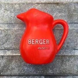 vintage berger anisette pitcher 1970 red plastic bar