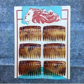 carte 6 barrettes plastique oyonnax femme qualité supérieure cheveux mercerie vintage 1950 paris mode