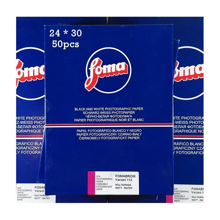 papier photo noir et blanc fomabrom variant 112 mat 24 30 50 pièces feuilles baryté fb agrandisseur tirage