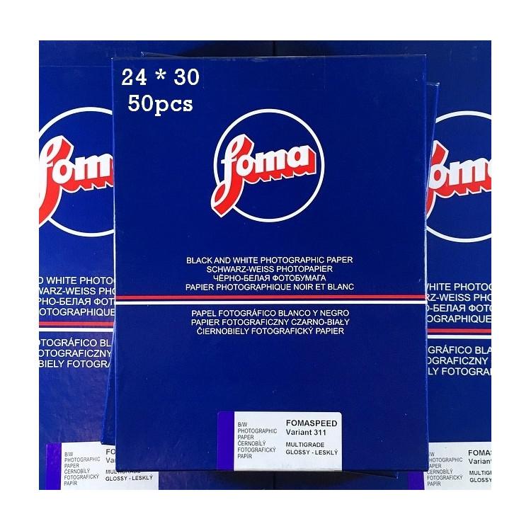 papier photo noir et blanc fomaspeed variant 311 24 30 50 pièces feuilles résine couchée rc agrandisseur tirage