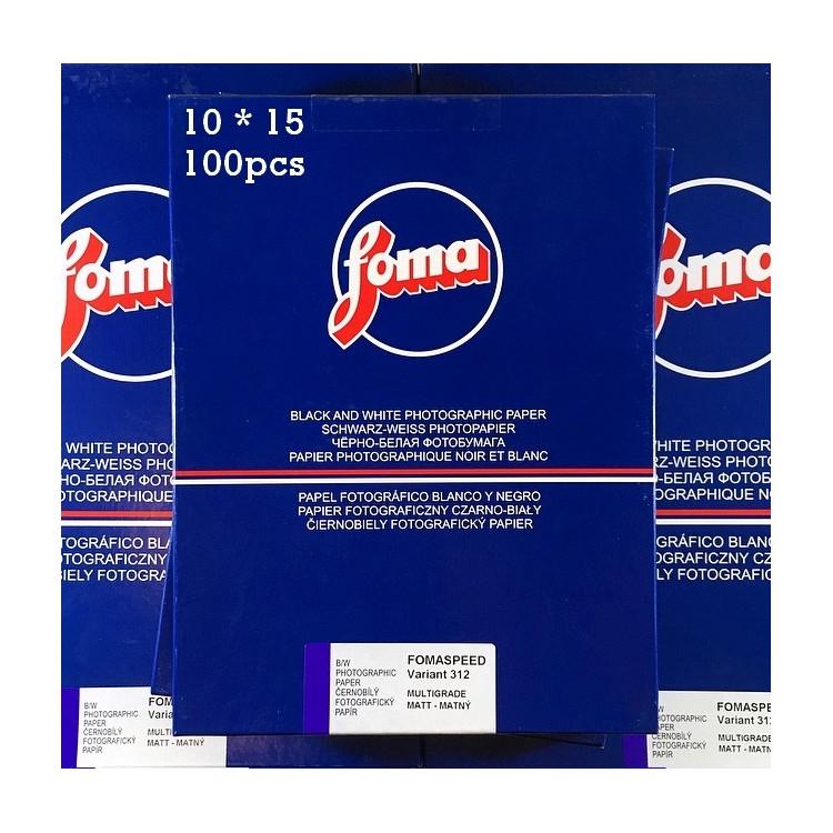 papier photo noir et blanc fomaspeed 312 10 15 100 pièces feuilles résine rc agrandisseur tirage