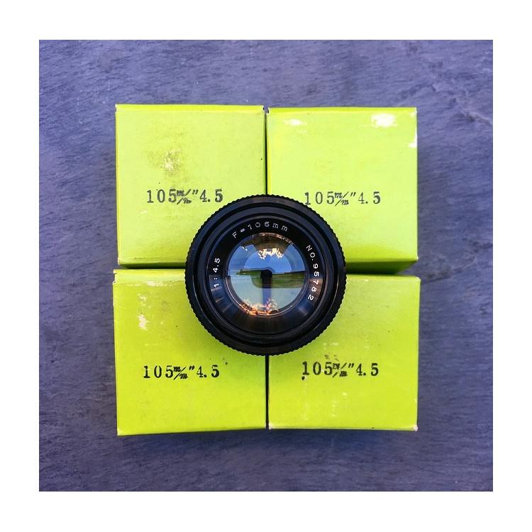enlarging lens picture analog vintage japan 105mm 4.5 antique lenses