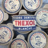 poudre blanche dentifrice thexol ancien vintage pharmacie 1940
