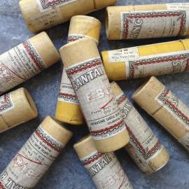 santal blanc médicament tube carton ancien vintage pharmacie 1930