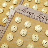 carte bouton ancien mercerie ancienne plastique crème nacre 17mm série idéale vintage