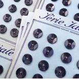 carte bouton ancien mercerie ancienne plastique bleu foncé 17mm série idéale vintage