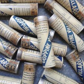 grippine villard tube metal antique vintage pharmacy medicine 1940