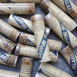 ancien vintage tube grippine villard 1940 pharmacie médicament