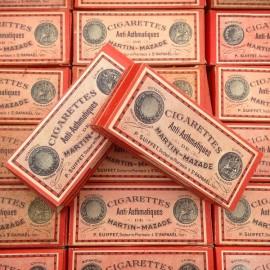 boite cigarette anti asthmatique asthme ancienne fumigation 1920 1930 martin mazade