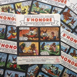 blotting paper st honoré biscuits illustration grocery 1960