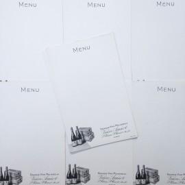 menu veuve amiot papier vin ancien vintage alcool vignoble imprimerie bistrot bar restaurant 1950