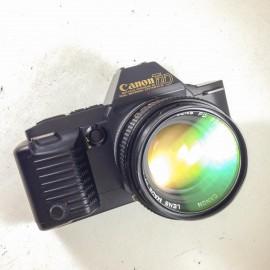 Canon t70 reflex appareil 24 36 fd 50mm 1.4 auto argentique film pellicules