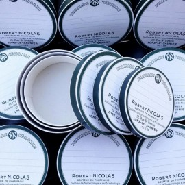 série de grandes boites gigognes gigogne pharmacie vintage 1930 1940 ronde