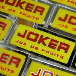 plaque miroir joker ancienne verre vitrine commerce boutique bar bistrot jus de fruit publicitaire 1950 1960