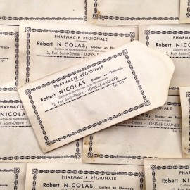 petit sachet ancien pharmacie art deco blanc 1930