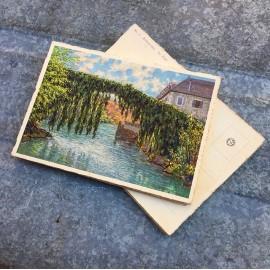 carte postale ancienne vue lourdes 1932 1930 1940 zuppinger bétharram le pont