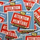 affiche ancienne papier ripolin peinture peintre attention à la peinture vintage