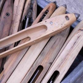 navette ancienne bois métal filature vintage 1900 1930 décoration mode