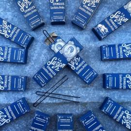 paquet ancien d'épingles 1920 1900 la suzon design vintage bleu