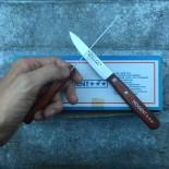 couteau ancien nogent lame inox 3 étoiles vintage cuisine bois métal 1980