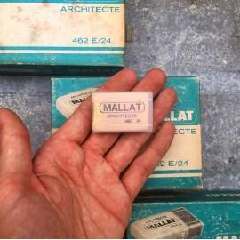 gomme mallat architecte ancienne vintage papeterie 1980