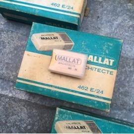 Mallat architecte eraser vintage old 1980