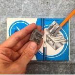 taille crayons amc métallique métal ancien vintage papeterie 1980