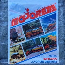 vintage plastic bag advertising majorette toys car miniature small 1980 serie 3000