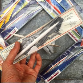 maquette d'avion avion lockheed 200 tupolev 144 boeing 733 vintage ancien plastique 1980 modèle réduit