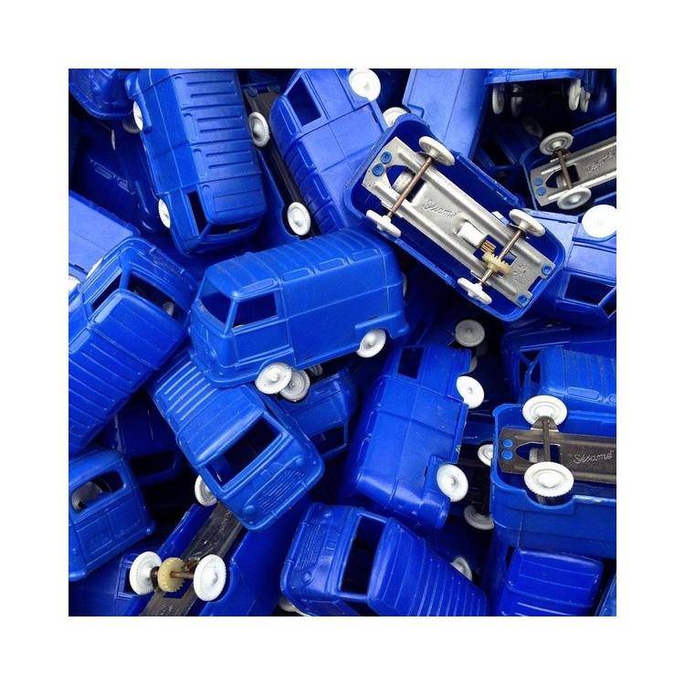 petite estafette renault van combi jouet miniature bleu sésame sesame 1960 plastique