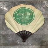 éventail publicitaire ancien vintage veramint ricqles vert 1920 1930 alcool