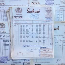 facture épicerie bon de livraison ancien ancienne papier stock vintage 1960 chocolat suchard suisse