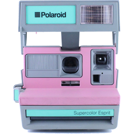 vintage polaroid supercolor esprit 1980 grey pink green
