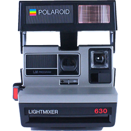 polaroid lightmixer 630 instant camera 600 color flash 1980