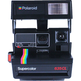 polaroid 635cl close up supercolor black vintage pola 600 instant camera old 1980
