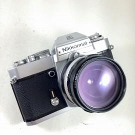 nikkormat el nikkor nikon 28mm 3.5 reflex argentique