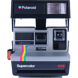 polaroid vintage 635 supercolor ancien 600 couleur flash 1980